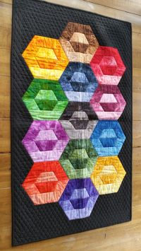 Hexie Harmony Table Topper or Wallhanging Kit